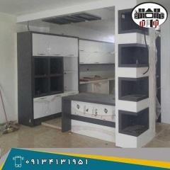 طراحی و ساخت کابینت آشپزخانه  هایگلاس