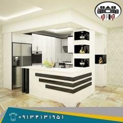 طراحی کابینت آشپزخانه  هایگلاس