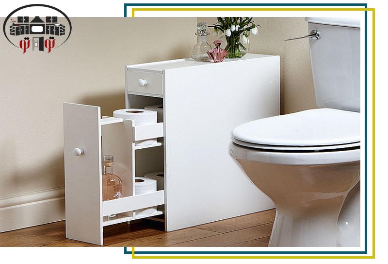 طزاحی داخلی کابینت برای مواد شوینده حمام