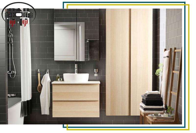 طراحی داخلی سوپر کابینت سرویس بهداشتی