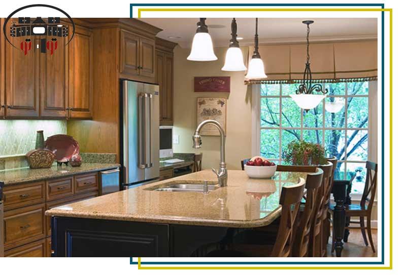 نورپردازی نامناسب در طراحی داخلی آشپزخانه