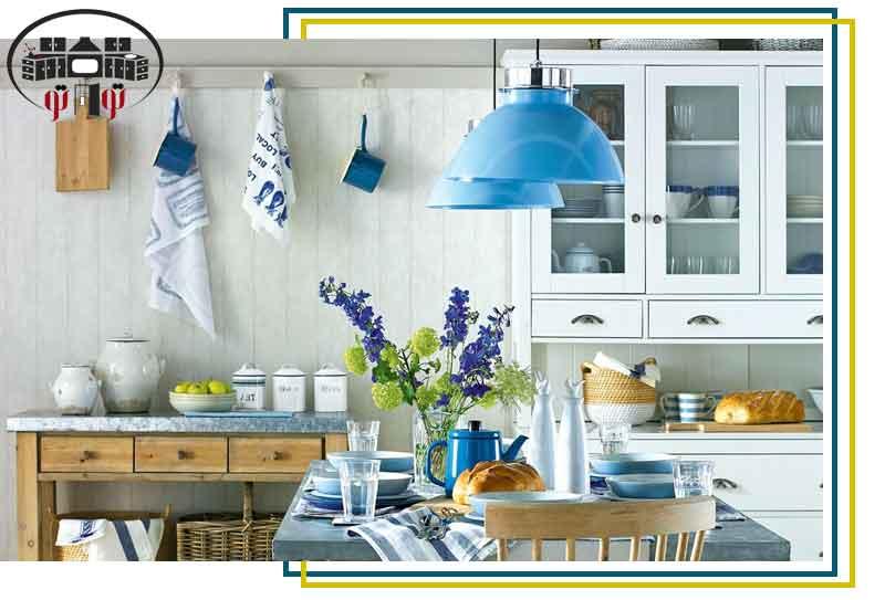 استفاده از رنگ های مورد علاقه در نورپردازی آشپزخانه